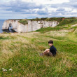 Cliffs of Etretat, Normandy, France — Stock Photo #15719607