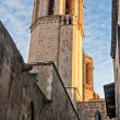 Tower of Santa Eulalia Cathedral in Barcelona — Stock Photo #15719767