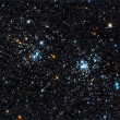 Stock Photo: Starfield. A double star cluster in Perseus