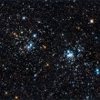 Stock Photo: Starfield. double star cluster in Perseus