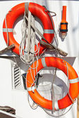 Life Buoy on a Sailing Vessel — Stock Photo