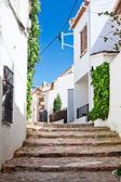 Typical narrow street in Calella de Palafrugell, costa Brava, Ca — Stock Photo