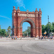 BARCELONA, SPAIN - July 21: Arc de Triomf was built for the 1888 — Stock Photo
