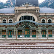 Stock Photo: Abandoned railway station of Canfranc, Huesca, Spain