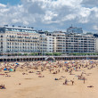 Stock Photo: SAN SEBASTIAN, SPAIN - AUGUST 13: Beach of SSebastian, Spain