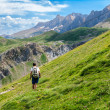 Stock Photo: Trekking in the Spanish Pyrenees