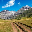 Stock Photo: Path along high mountains in the Spanish Pyrenees