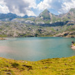 Panorama of Estanes Lake  in the Spanish Pyrenees — Stock Photo