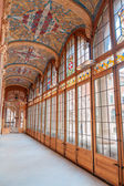 Corridon inside Sant Pau Hospital in Barcelona — Stock Photo