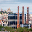 View from top of Columbus Statue in Barcelona — Stock Photo #48732371