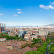 View from top of Columbus Statue in Barcelona — Stock Photo #48732629