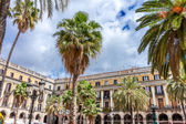 BARCELONA - MAY 2:  Placa Reial on May 2, 2014 in Barcelona, Cat — Stock Photo