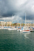 Marina Port Vell in Barcelona — Stock Photo