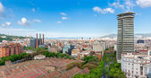 View from top of Columbus Statue in Barcelona — Stock Photo