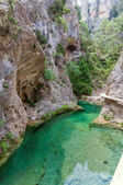 Matarranya river gorge in Spain — Stock Photo