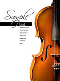 Violin on white background (easy to remove the text) — Stock Photo