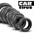 Stock Photo: Tires isolated on white background