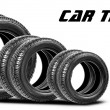 Tires isolated on the white background — Stock Photo