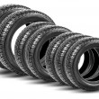 Stock Photo: Tires isolated on the white background