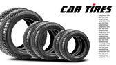 Neumáticos aislados sobre el fondo blanco — Foto de Stock