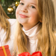 Beautiful young blonde girl - christmas — Stock Photo