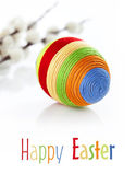 Colorful easter egg on white background — Stock Photo