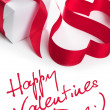 Valentine hearts - greeatings — Stock Photo