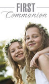 First Communion - two girlfriends — Stock Photo