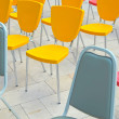 Multicolored chairs — Stock Photo
