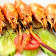 Stock Photo: Grilled shrimps