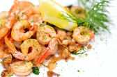 Fired shrimps — Stock Photo