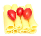 Cheese and tomatoes — Stock Photo