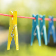 Clothes pegs — Stock Photo #26109151