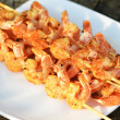 Shrimp kebab — Stock Photo