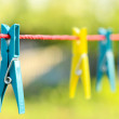 Clothes pegs — Stock Photo