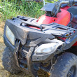 Stock Photo: Crashed ATV