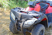 Crashed ATV — Stock Photo