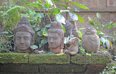 Buddha heads — Foto Stock