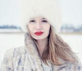 Winter portrait — Stock Photo