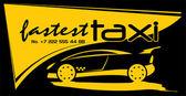 FastestTaxi — Stock Vector