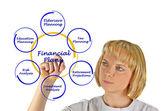 Diagramm des finanzplans — Stockfoto