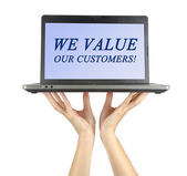 We value our customers — Stock Photo