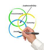 Prezentacja diagramu zrównoważonego rozwoju — Zdjęcie stockowe