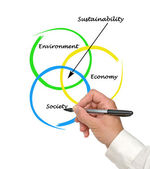 Sürdürülebilirlik diyagramın tanıtımı — Stok fotoğraf