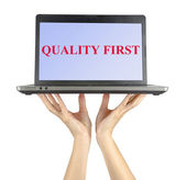 Quality first — Stock Photo