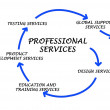 diagramme de services professionnels — Photo
