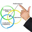 Diagram of performance — Foto de Stock