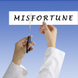 Stock Photo: Misfortune and fortune