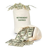 Saco com poupança-reforma — Foto Stock
