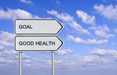 Sign to good health and goal — Stock Photo